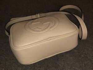 Creamy faux leather bag