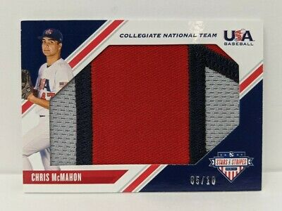 2020 Panini STARS STRIPES USA Baseball LARGE JERSEY CHRIS McMAHON 5/10