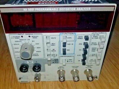 Tektronix Aa5001 Programmable Distortion Audio Analyzer Wopt. 02 Da4084