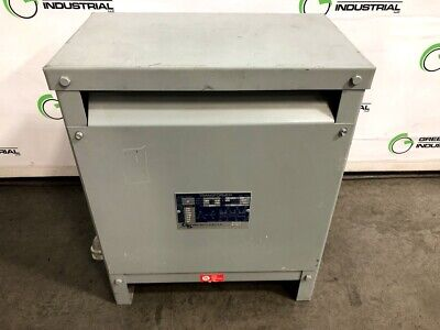 Used 15 Kva Dry Transformer 208 Delta 208y120 T3h15s Hevi-duty Shielded Tested