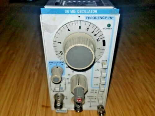 Tektronix SG505 Option 01 Audio Oscillator Plug in