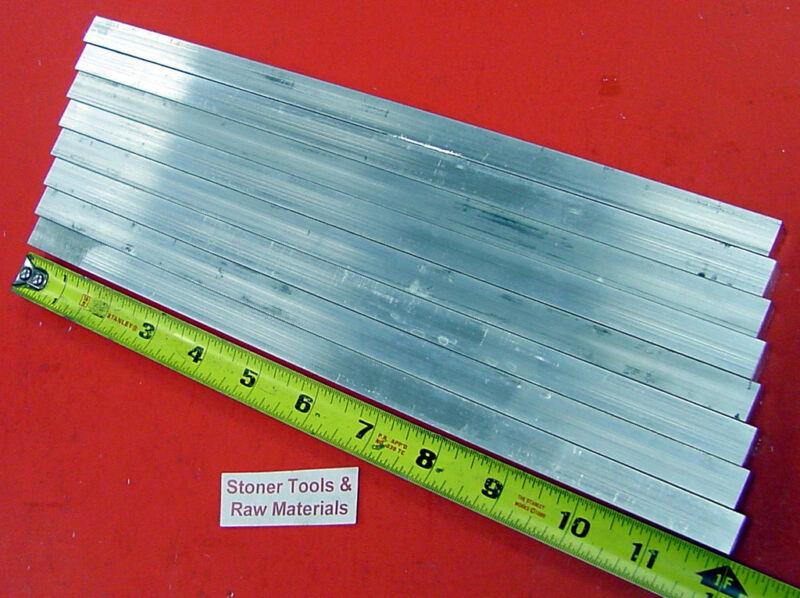 "8 Pieces 1/2"" X 1/2"" 6061 T6511 ALUMINUM SQUARE FLAT BAR 12"" long New Mill Stock"