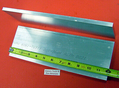 2 Pieces 34 X 4 Aluminum 6061 Flat Bar 12 Long .75 Solid Plate Mill Stock