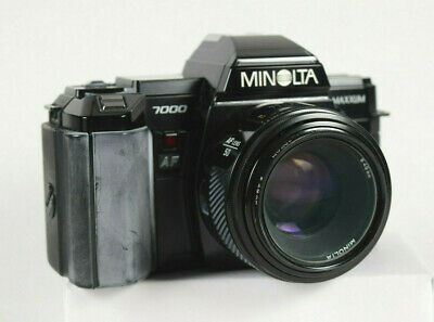 Used, Minolta Maxxum 7000 w/ 55mm f-1.7, Sunpack 433AF Flash & Lithium Battery Case for sale  East Moriches