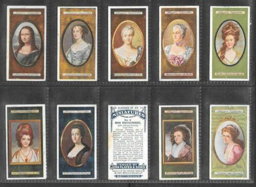 """PLAYER 1923 INTRIGUING (  MINIATURES ) FULL 25 CARD SET """"""""  MINIATURES  """""""""""