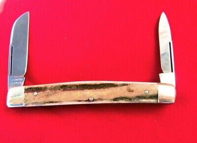 gutHEN & ROOSTER GUTMANN SOLINGEN GERMANY STAG HALF CONGRESS POCKET KNIFE UNUSED