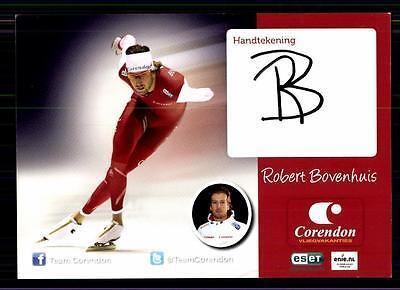 Robert Bovenhuis Autogrammkarte Original Signiert Eisschnellauf + A 122684