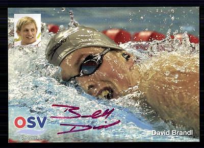 David Brandl Autogrammkarte Original Signiert Schwimmen +A 74294