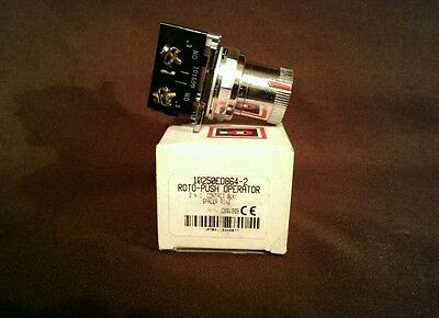 Cutler-Hammer 10250ED864-2 Roto-Push Operator w/ 2 N.O. Contact Block