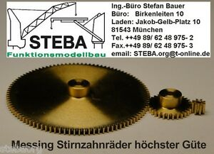 WEBRA Ms Stirnzahnrad z=50  Modul 0,3/0,4/0,5 von STEBA