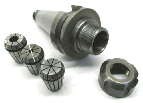 ACCUPRO ER25 COLLET CHUCK w/ BT40 SHANK & 3 COLLETS