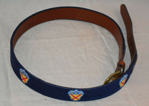 Smathers & Branson Bel Air Country Club Size 34 Needlepoint Golf Belt
