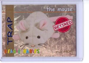 Ty-S1-RED-Retired-Trap-The-Mouse-Beanie-Card-insert-only-4042-RARE-1998