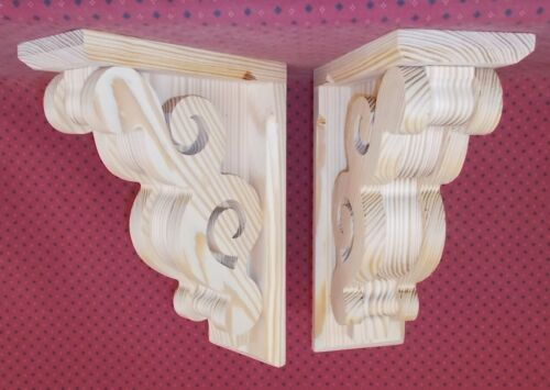 PAIR of Victorian Design Wood Corbels (#6108D)