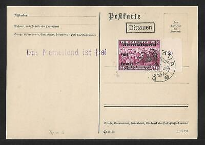 LITHUANIA MEMEL 35CTS CARD COVER 1939