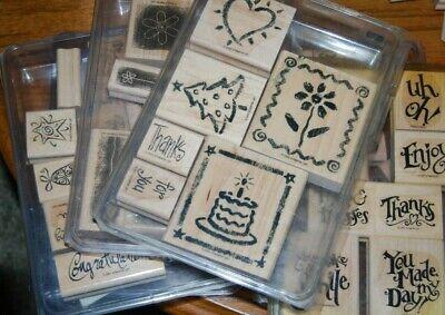 Stampin Up Large Stamp Sets  Wood mounted - You Choose your set!