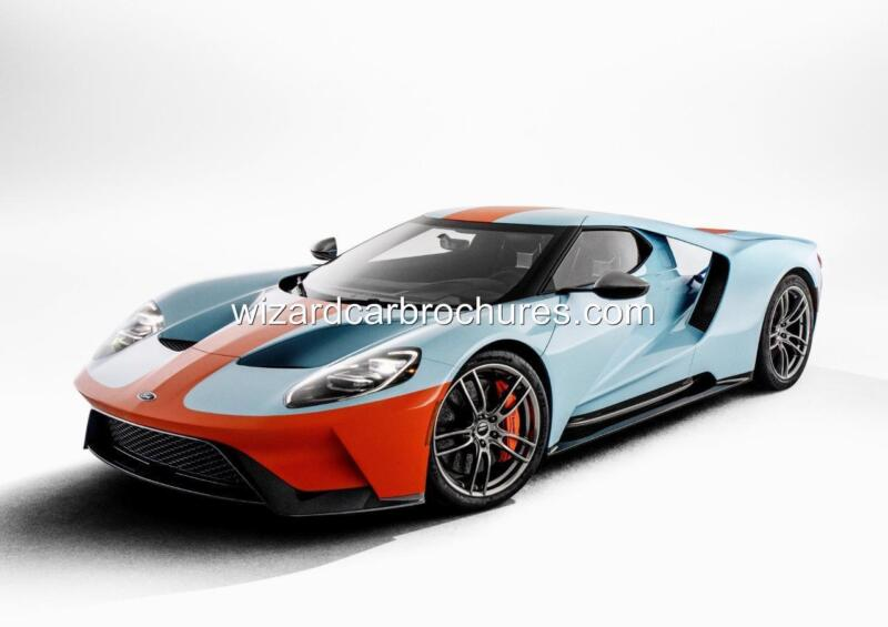 2019 FORD GT HERITAGE EDITION GULF OIL GT40 A3 POSTER PRINT AD SHED GARAGE
