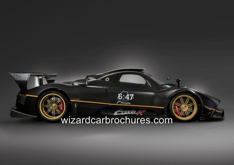2009 PAGANI ZONDA R NURBURGRING SET OF 4 QUALITY A3 POSTER PRINT AD SHED GARAGE
