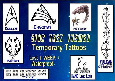 STAR TREK  Voyager trekkie themed  temp TATTOOS X4  waterproof  LAST1 - Trekkie Kostüm