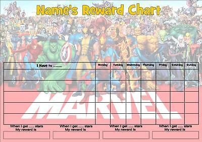 MARVEL JOB/BEHAVIOR/REWARD/HOMEWORK CHART -FREE PEN & STICKERS](Homework Chart)