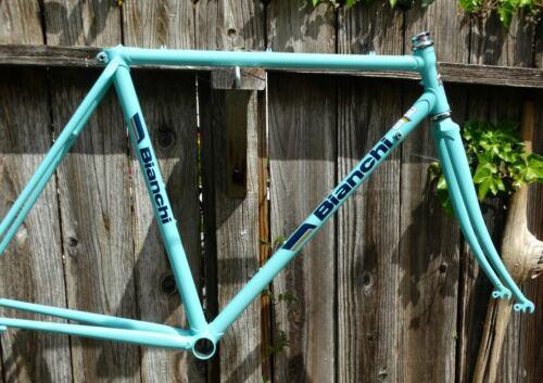 52cm Bianchi Sport SX vintage steel frame-set - Refinished + extras
