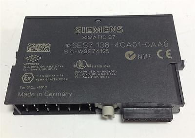 Siemens Simatic S7 24vdc Power Module 6es7 138-4ca01-0aa0 Pzb