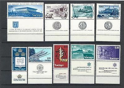 Israel Sc# 312/47 2sets with tabs MNH