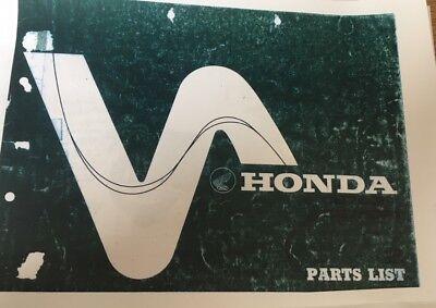 HONDA CB 750 F F1 - A Parts Manual 1976 Paper bound copy 1975