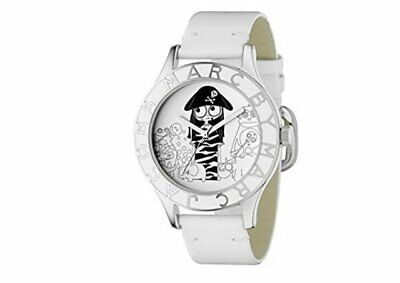 """Marc By Marc Jacobs """"Miss Marc Pirate """" Girl Watch MBM 1146 White Leather Band"""