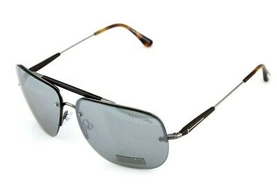 RARE NEW TOM FORD NILS Black Grey Green Mirror Sunglasses TF 380 FT 0380 09Q