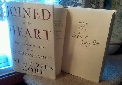 """""""Al &Tipper Gore"""" signed book!/""""Joined At The Heart""""1st Ed. 2002 (still married)"""