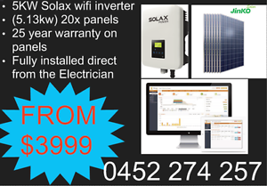5KW SOLAR PACKAGE FULLY INSTALLED DIRECT FROM THE ELECTRICIAN Melbourne CBD Melbourne City Preview