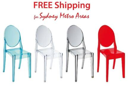 philippe starck replica ghost chairs dining chairs gumtree