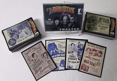 THREE STOOGES  THEATER CARDS 2017  COMPLETE BASE SET OF 106 + WRAPPER AND CASE (Three Stooges 2017)