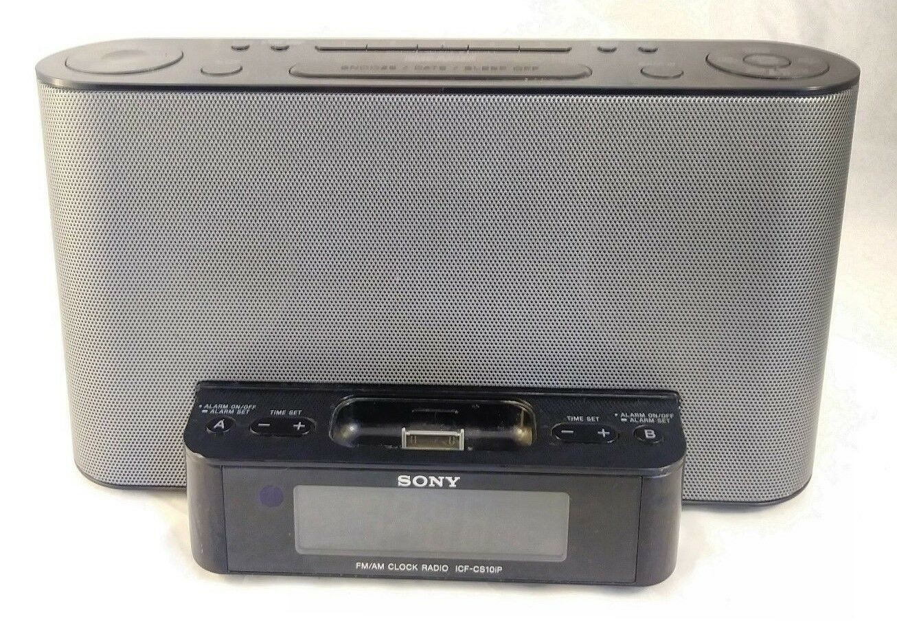 Sony ICF-CS10iP iPod / iPhone AM/FM Alarm Clock Radio Dock