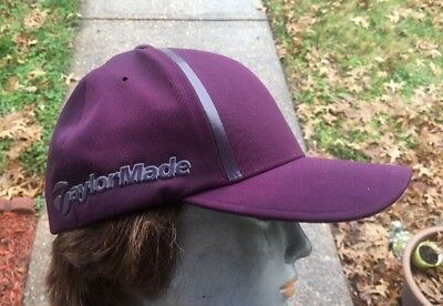 59f60fe53100c Adidas Taylor Made Fitted Golf Hat Cap Size  S M Purple TaylorMade