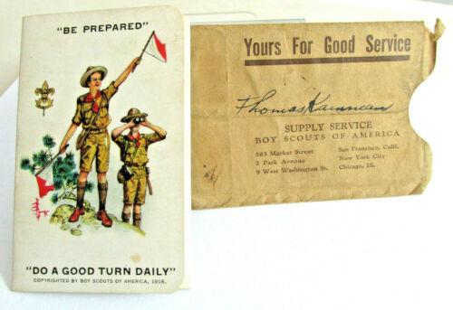 1935 BSA Boy Scouts of America Membership Card & Holder, Thomas Kamman Scouting