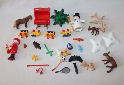 Lot Playmobil Advent Calendar Christmas Santa Claus Snowman Replacement Parts