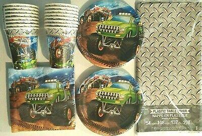 Monster Truck Rally Geburtstag Party Dekoration Set Pack Fro 16 Gratis ()