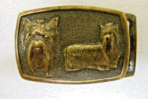 SILKY TERRIER DOG Belt Buckle - from 1977