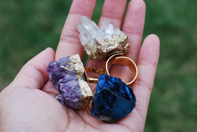how to make a geode ring box