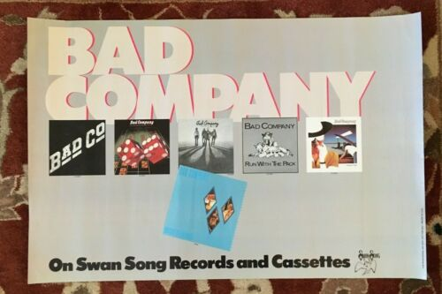BAD COMPANY  On Swan Song Records  rare original promotional poster from 1982