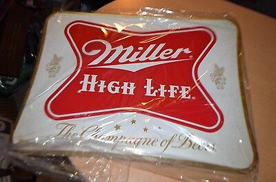 Miller High Life Beer Logo Metal Tacker Sign Advertising- 20 inches BRAND NEW