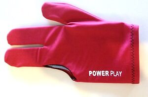 QUALITY-Pool-Snooker-Billiard-Table-Cue-Glove-PowerPlay-Glove-RED