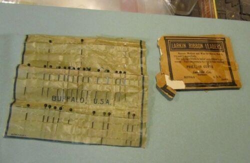 Vintage Larkin Company Ribbon Leaders and Pins in Original Packaging Buffalo NY