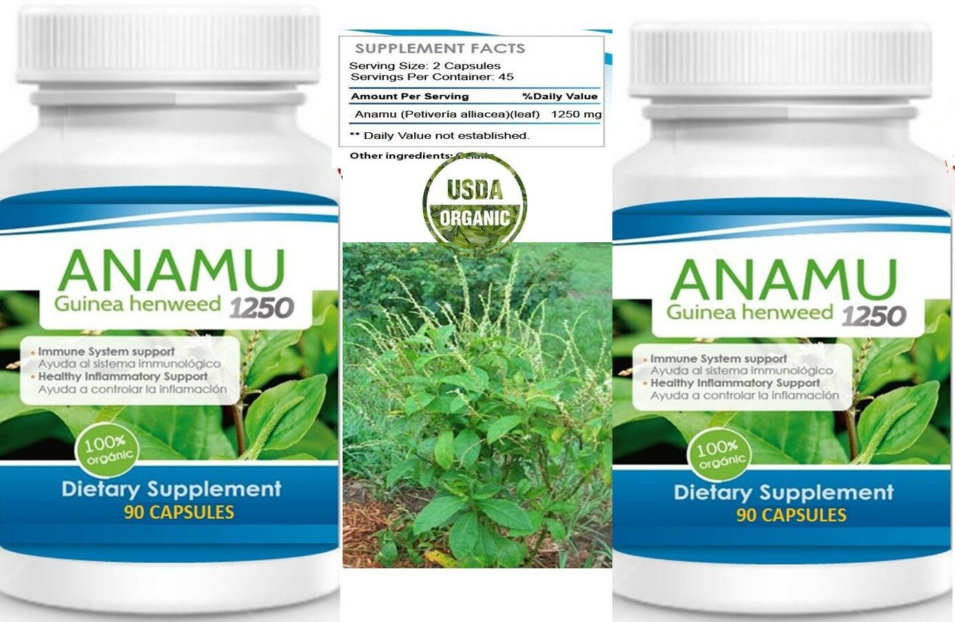 180Caps ANAMU 1250mg Circulatory System Low Sugar Control 100% Effective 180 cap