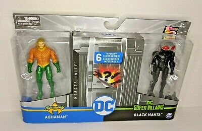 DC Heroes Unite 4 Inch Aquaman vs. Black Manta Action Figure 2 Pack - RARE!