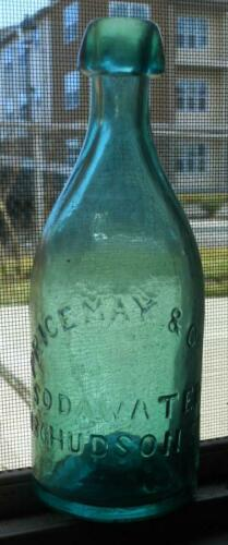 Iron Pontil Green Price May 486 Hudson St. New York NY NYC Soda Bottle Free Ship