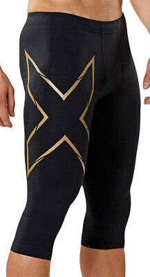 2XU MCS Alpine Compression Tights 3/4 Men's Medium Black/Gold