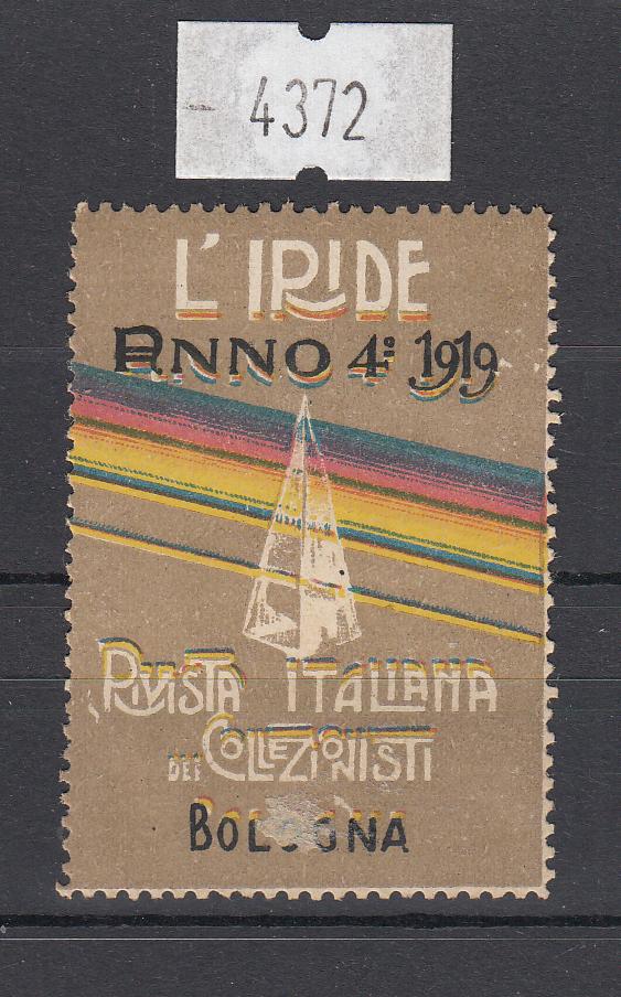 4372) L'Iride - Bologna rivista italiana per collezionisti - 1919